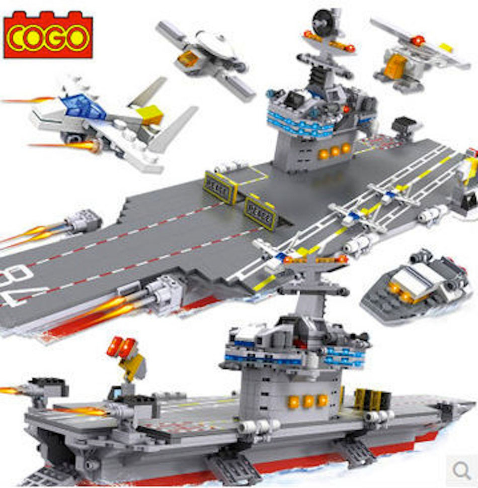 Cogo building bricks blocks aircraft carrier lego compatible