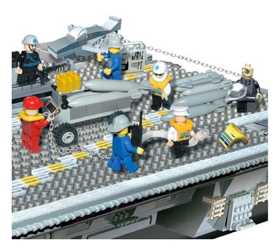 Banbao 8242 building blocks aircraft carrier lego compatible