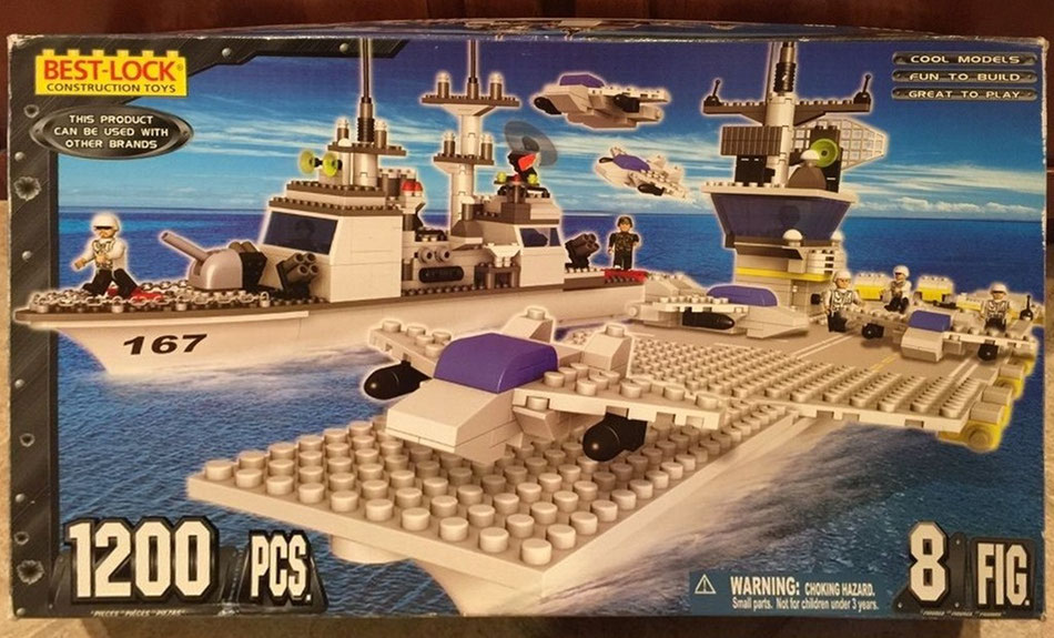 Best Lock Aircraft Carrier with Battleship building bricks blocks