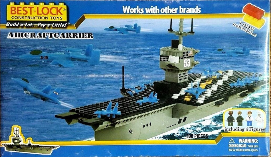 Best Lock building bricks aircraft carrier : Box variation