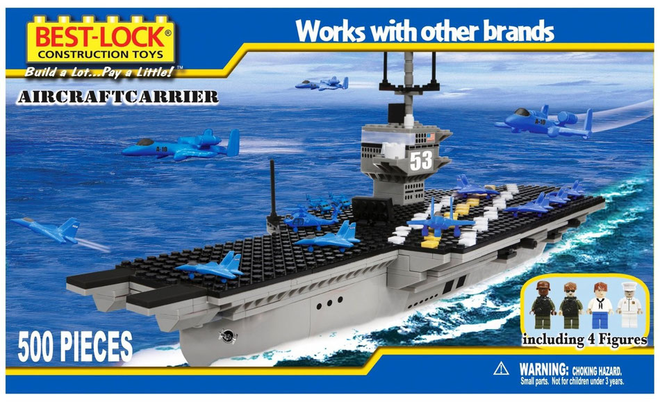 Best Lock aircraft carrier building bricks blocks lego compatible