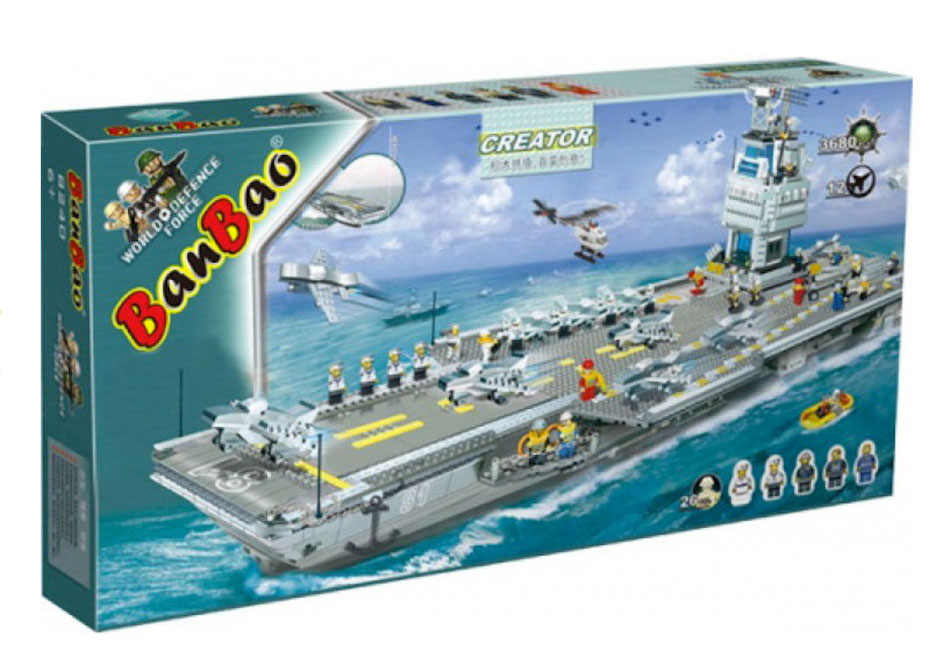 Banbao 8242 building bricks blocks aircraft carrier lego compatible