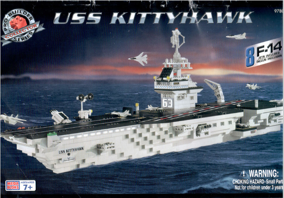 USS Kitty Hawk 9780 megabloks mega bloks produilder instruction manual lego compatible