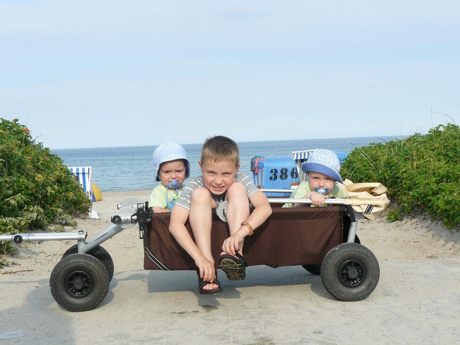 total zufrieden mit ulfBo - dem tollen faltbaren Bollerwagen made in Germany