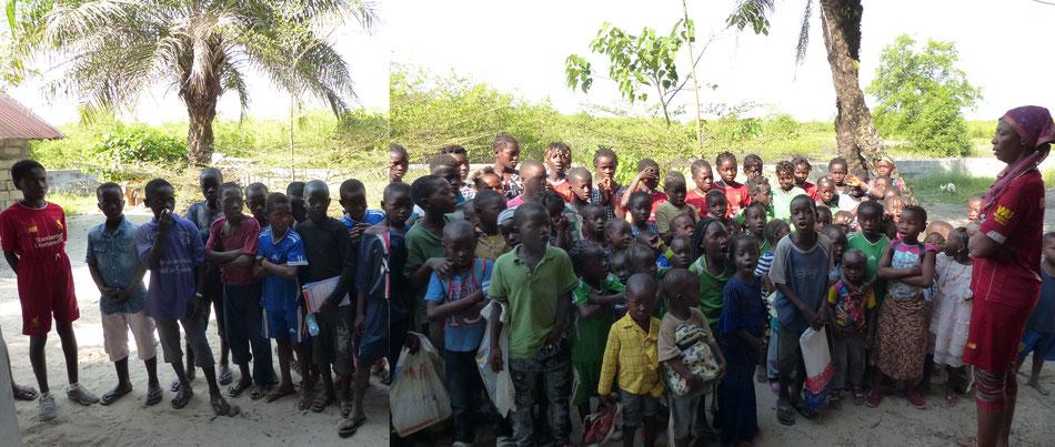 Gruppenfoto der Schulkinder am 4.1.2021