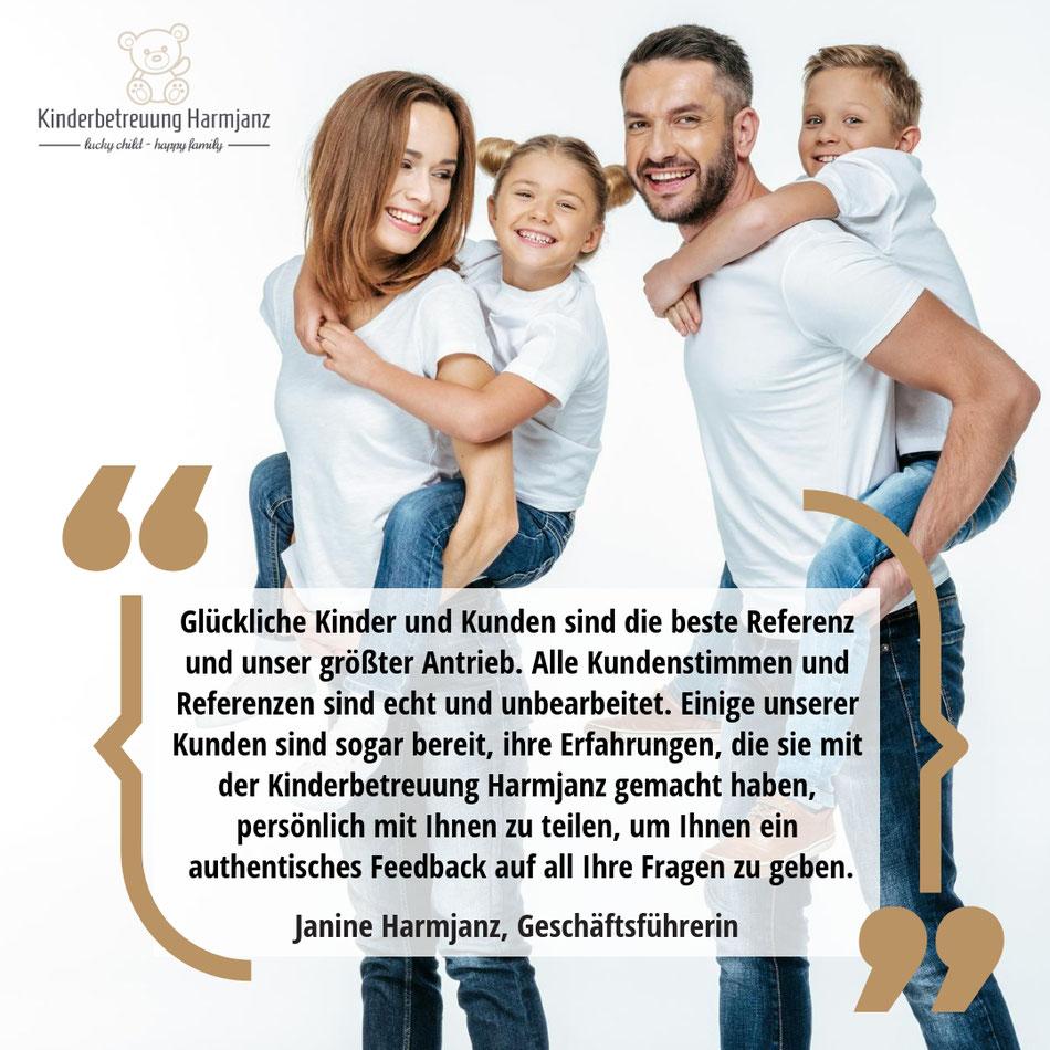 Kinderbetreuung Harmjanz. Glückliche Kinder und Kunden sind die beste Referenz und unser größter Antrieb.