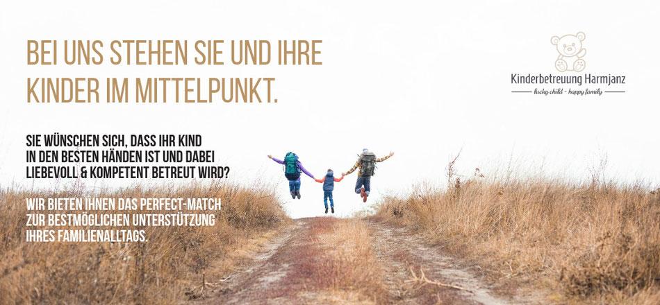 Kinderbetreuung Harmjanz. Bei uns stehen Sie und Ihre Kinder im Mittelpunkt.