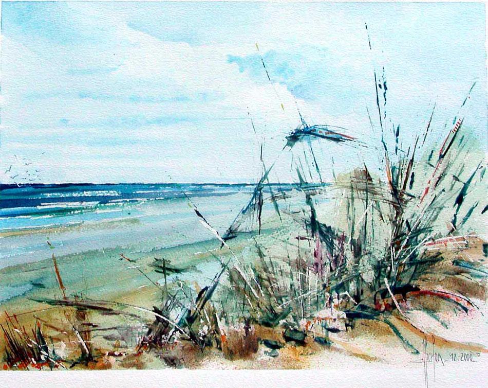 17 Dunes - 2000 - Aquarelle 40 x 50