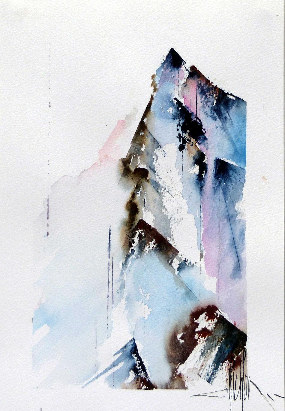 429 Ascension XI - 2018 - Aquarelle 20 x 30