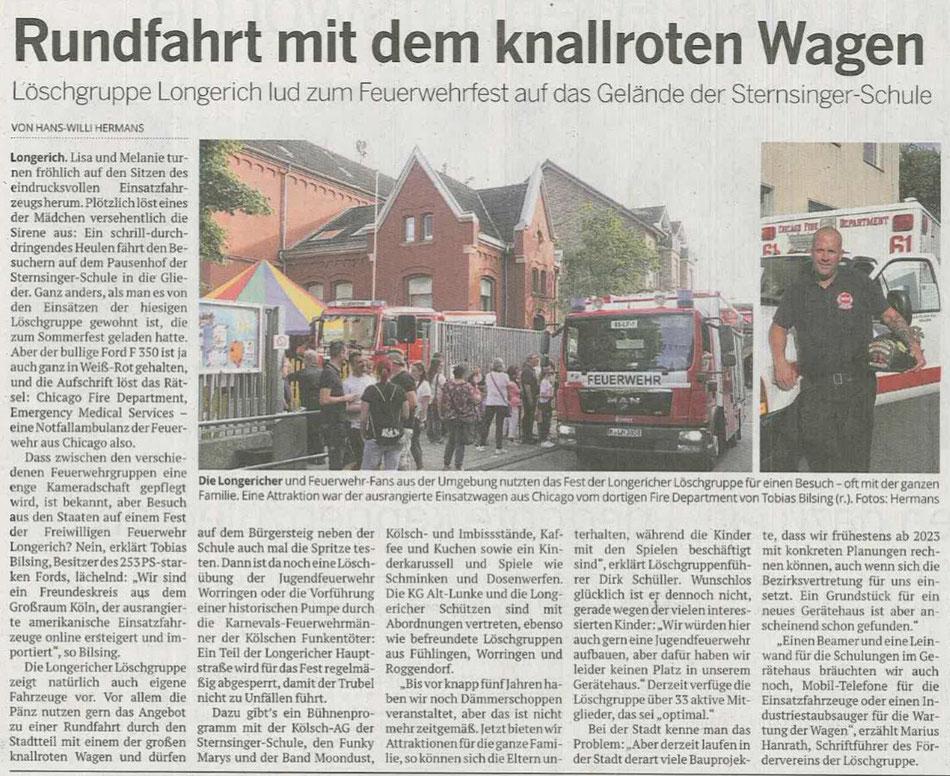 Zeitungsartikel aus der Kölnischen Rundschau