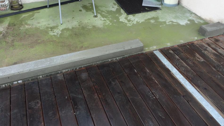 Beton aufbordung für Windfang (Stufen)