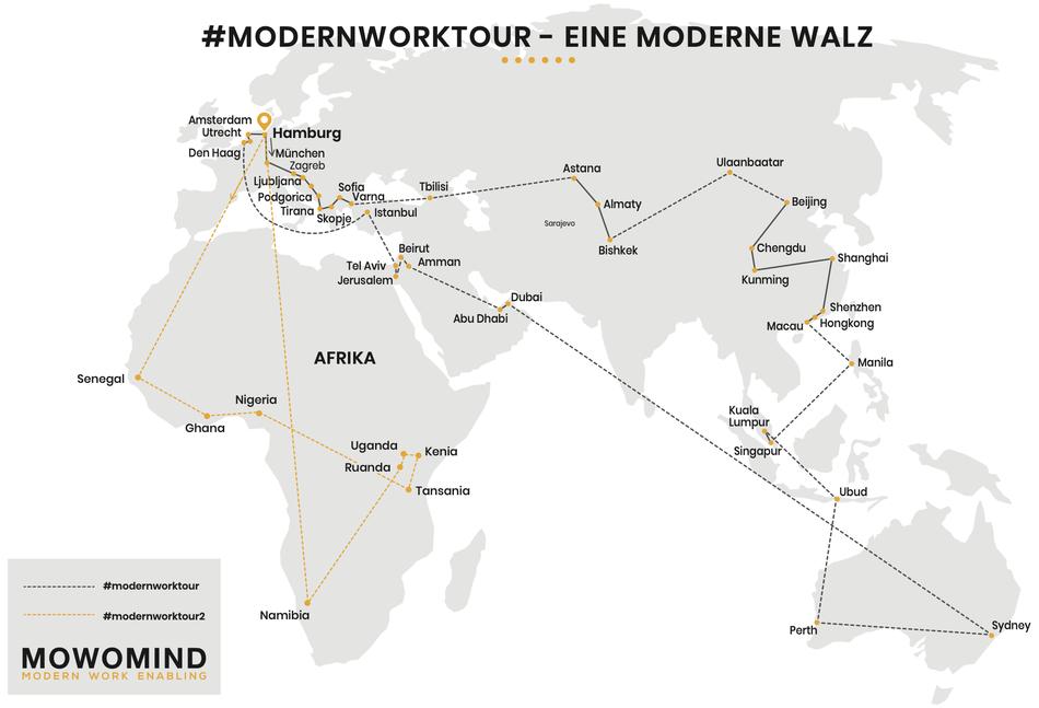 #modernworktour und Moderne Walz - eine New Work Reise um die Welt