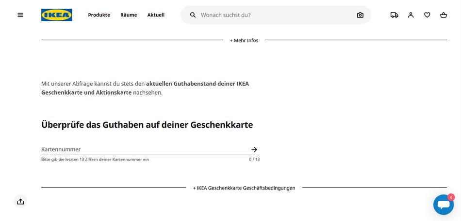 IKEA Gutschein Wert Guthaben Prüfen Wie viel Geschenk Online Website