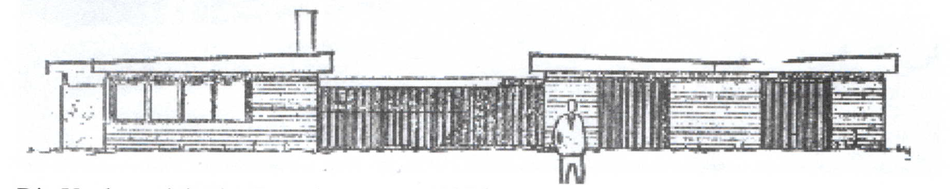 Die Vorderansicht des Bootshauses 1976