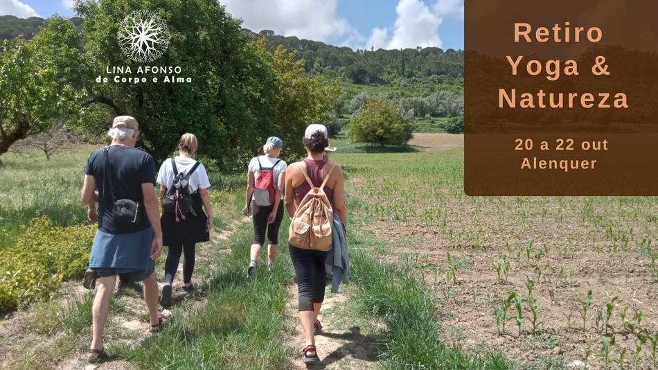 retiro yoga e natureza, Lina Afonso De Corpo e Alma, caminhada, espiritualidade, centro 4 ventos, retiro espiritual