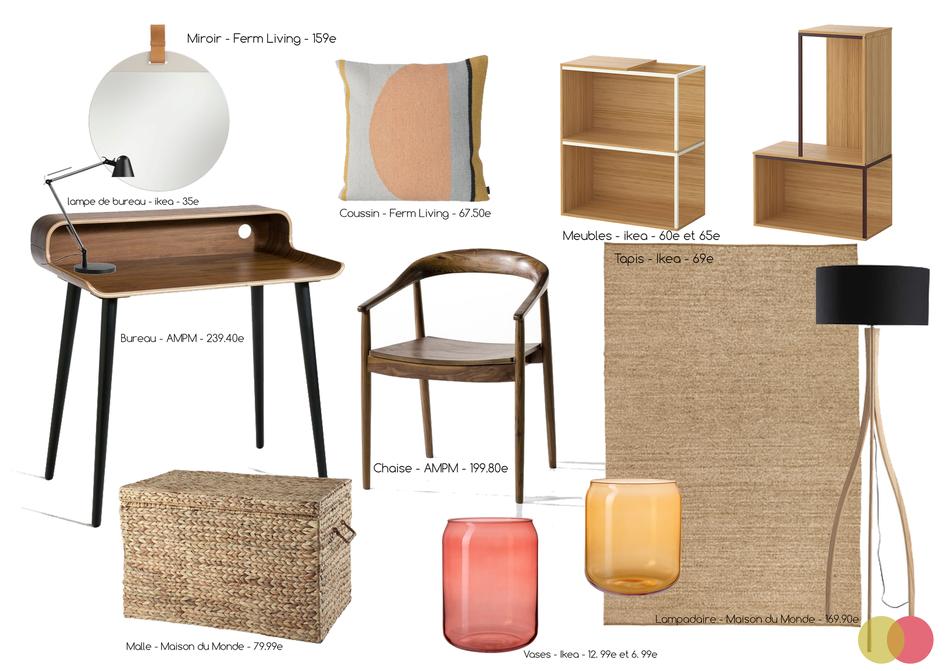 proposition objets et mobiliers bureau