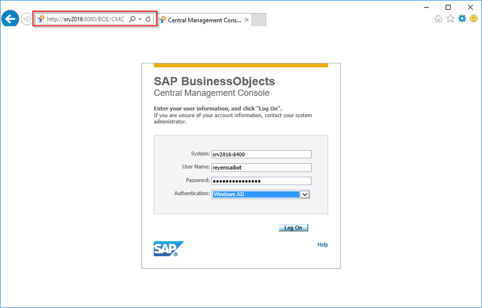 BI Platform Logon with Windows Active Directory Account