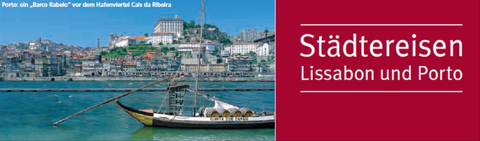 Lissabon und Port jetzt bei Singer Reisen & Versicherungen preiswert individuell buchen...