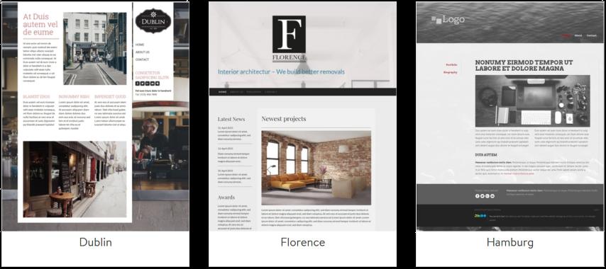 Mehr als 40 individualisierbare Design-Vorlagen - Eigene Webseite