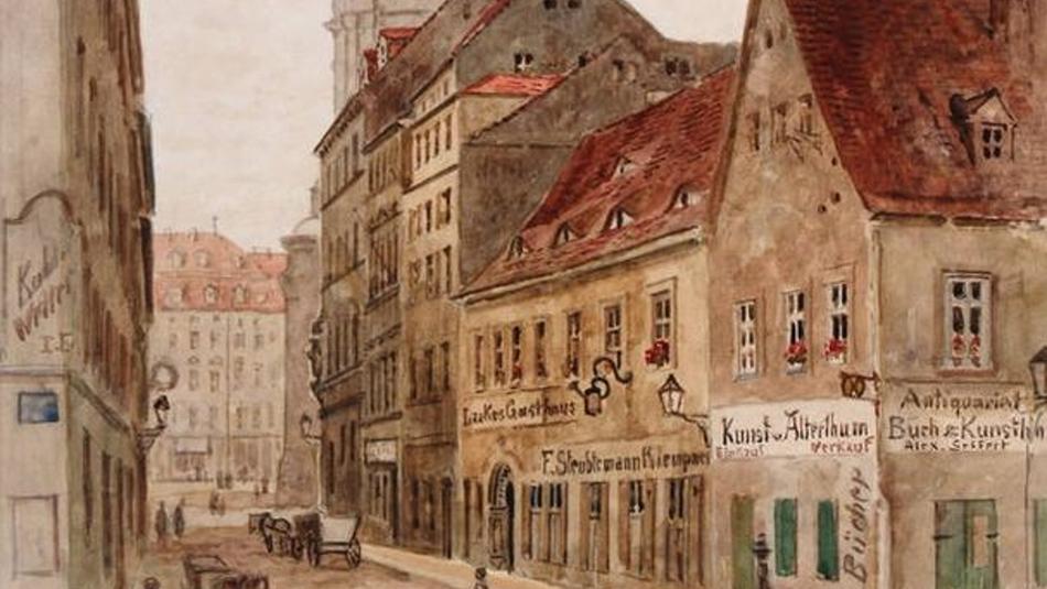 Die ehemalige Pfarrgasse in Dresden, Otto Schneider (CC BY-SA 4.0, SKD)