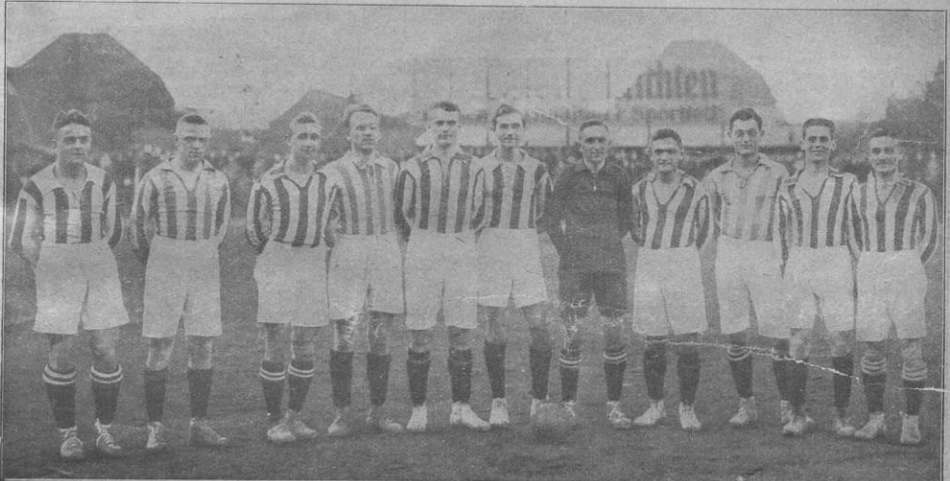 Mannschaftsfoto BC Sportlust von 1921 aus der Mitteldeutschen Sportzeitung.