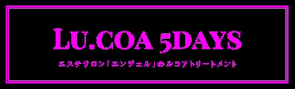 Lu・coa(ルコア)の5daysトリートメント