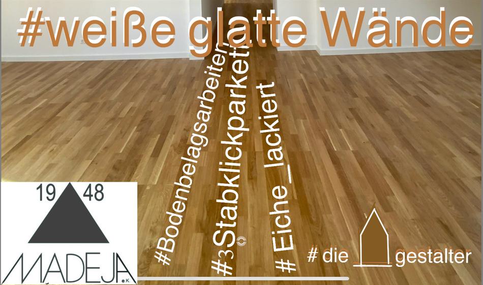 3 Stabklickpakett Eiche lackiert MADEJA e.K. - die Hausgestalter Raumausstatter