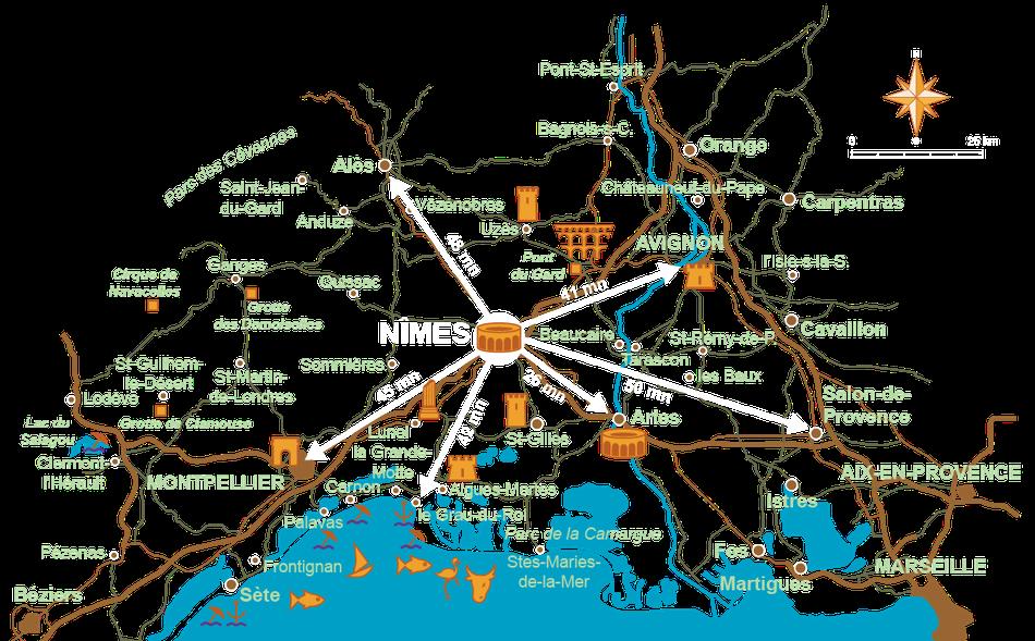 Hébergement gîte à Nîmes