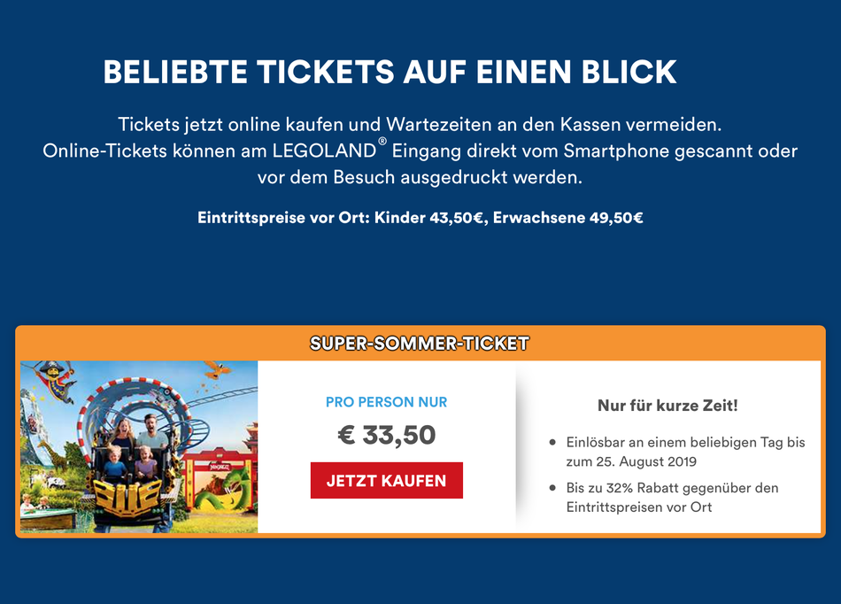 Website: LEGOLAND Deutschland Resort