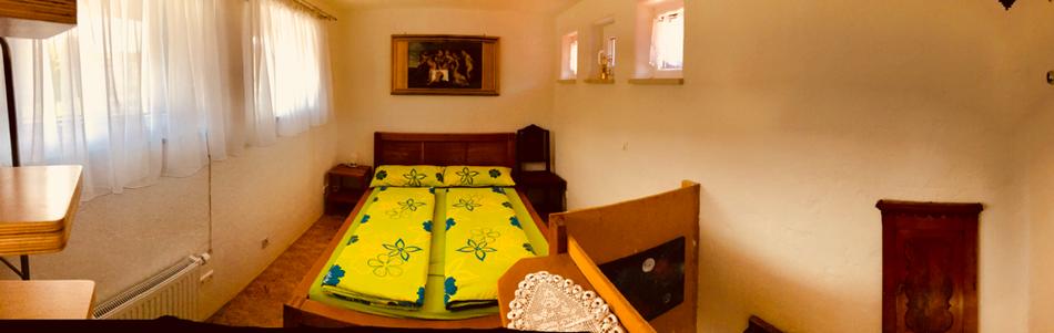 Doppelbett Ferienwohnung Ferienhaus FerienTurm double bed in the holiday apartment FerienTurm