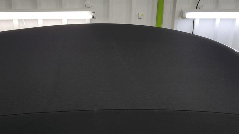 991GTSカブリオレ 幌コーティング完成 黒いソフトトップ キャンバストップ 埼玉の車磨き専門店