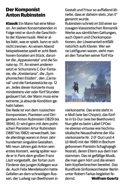(Rheinische Post, 22.03.2021)