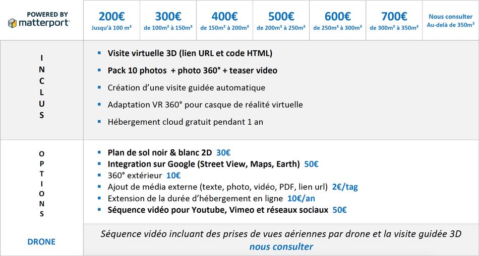 tarifs visite virtuelle 3D