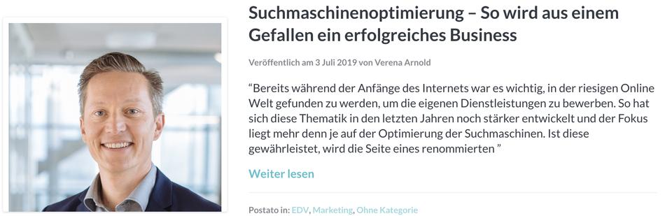 Interview Markus Hochsteiner Suchmaschinenoptimierung ProntoPro
