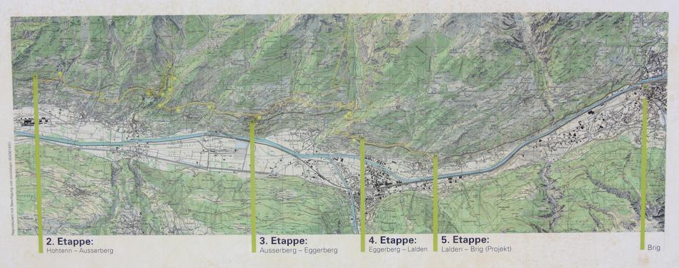 Etappen der BLS Südrampe