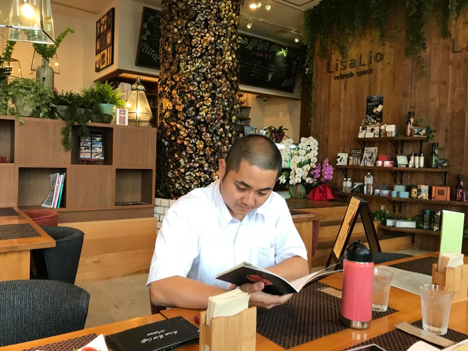 若松区高須のリサリオカフェで勉強会