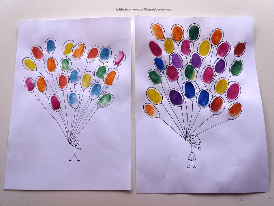projet artistique Luftballons (allemand au cycle 2)