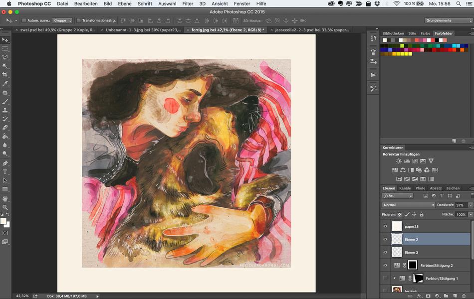 11. Noch ein bisschen Zauber mit Texturen, Pinseln und Ebenen-Effekten, ein bisschen hin und her switchen von Photoshop zu Lightroom und zurück, fertig ist das nun erstmal.