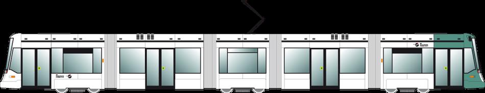 Variobahn des Verkehrsbetriebs Potsdam
