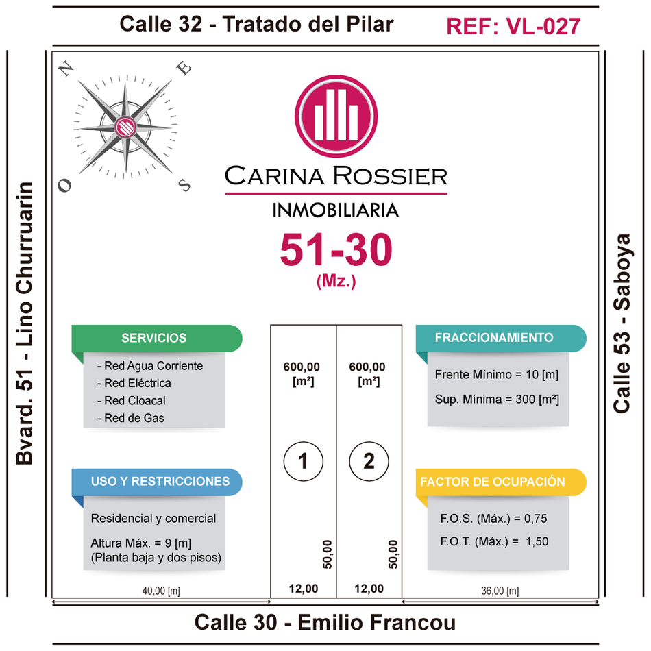 Carina Rossier Inmobiliaria vende lotes en Villa Elisa Entre Ríos