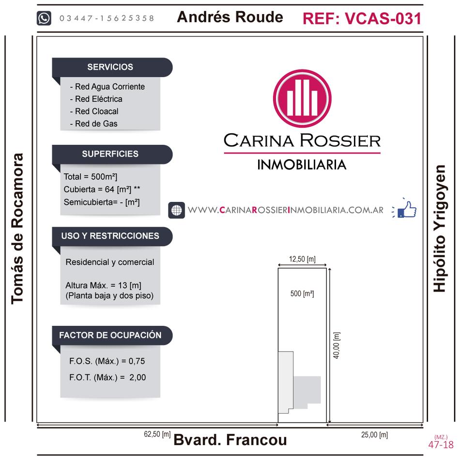 Carina Rossier Inmobiliaria vende casa en Villa Elisa, Entre Ríos. Referencia: VCAS-031