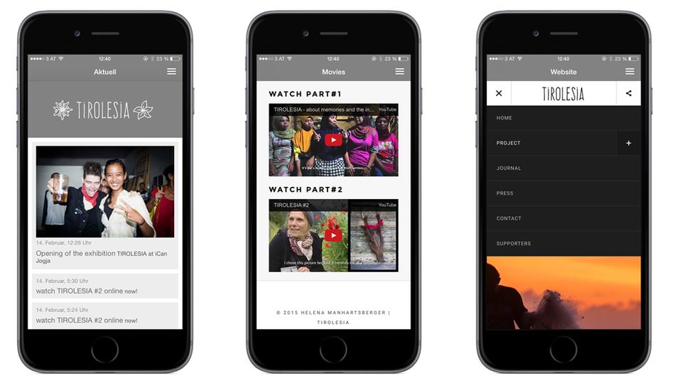 Tirolesia App für iOS und Android