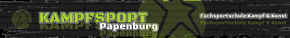 Banner Fachsportschule - Kampfsport Angebot Papenburg