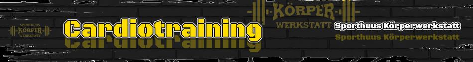 Grafik zur Seite Cardiotraining - Banner Cardio Fitness - Fachsportschule & Kampfsportschule