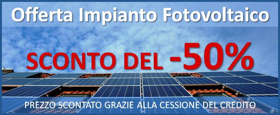 Offerte impianto solare fotovoltaico prezzo chiavi in mano
