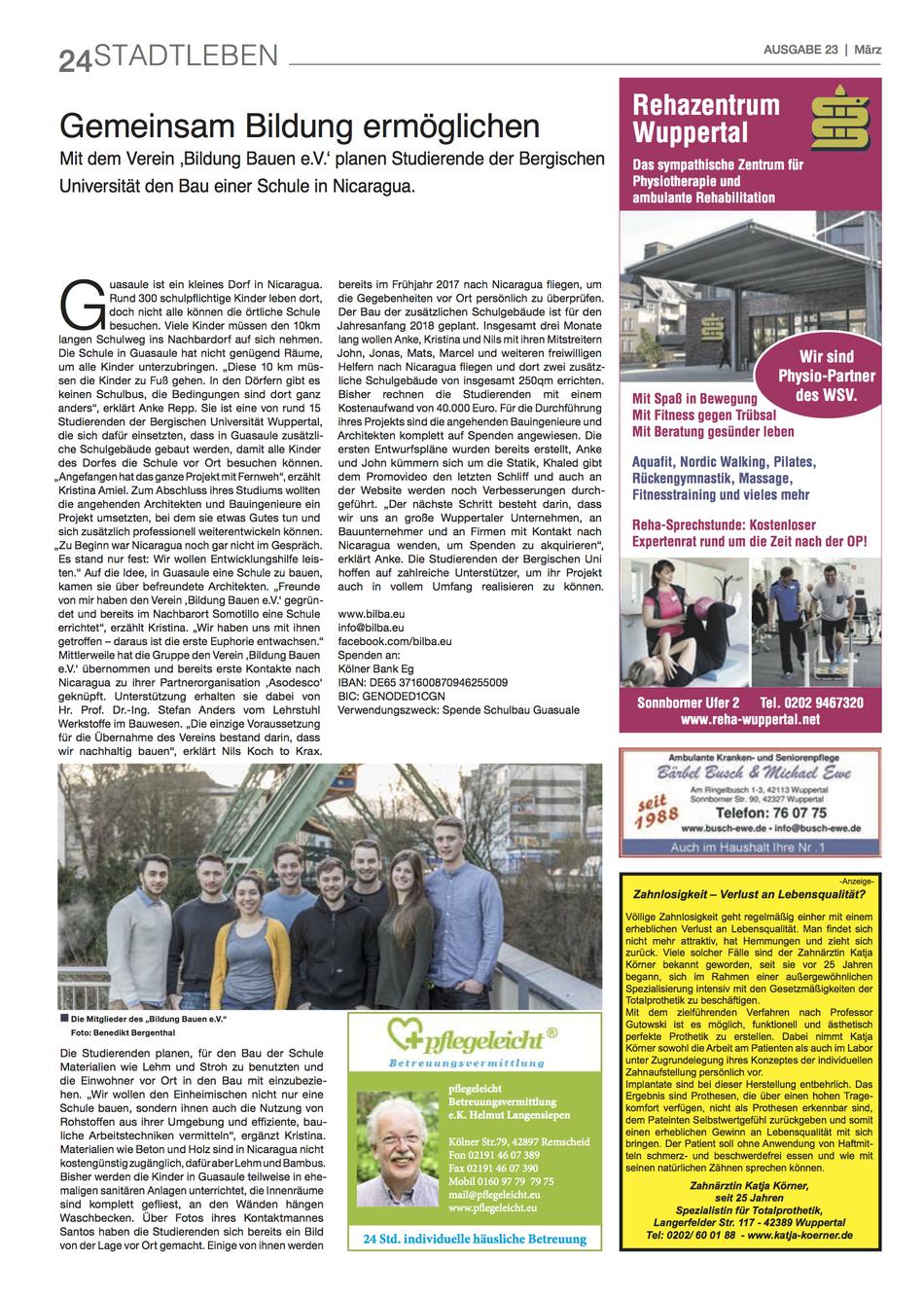 Die Stadtzeitung, Ausgabe Nr. 23, März 2017, Seite 24