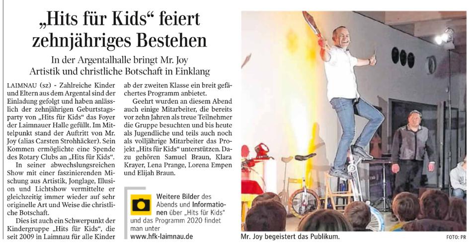 Schwäbische Zeitung vom 7.1.2020