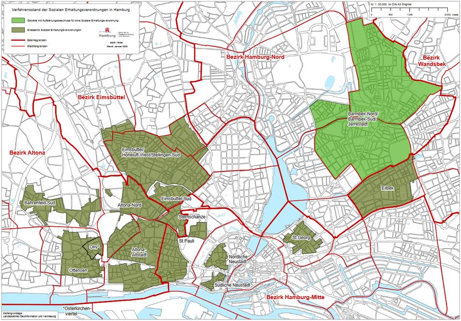 Soziale Erhaltungsverordnung Hamburg Stadtteile