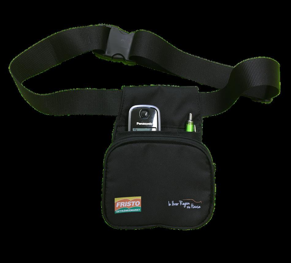 Multifunktionstasche mit Gürtel - Organizer - Bauchtasche mit Reißverschluss - Gürteltasche für Telefon / Handy, Stifte und Schlüssel