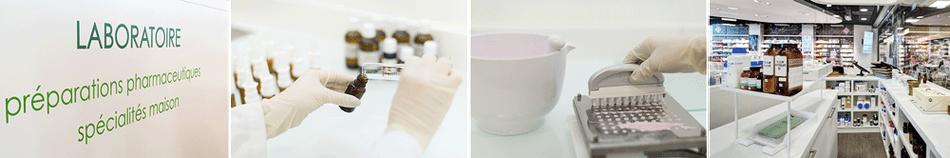 Laboratoire, préparation pharmaceutique et spécialités maison, préparation de capsules